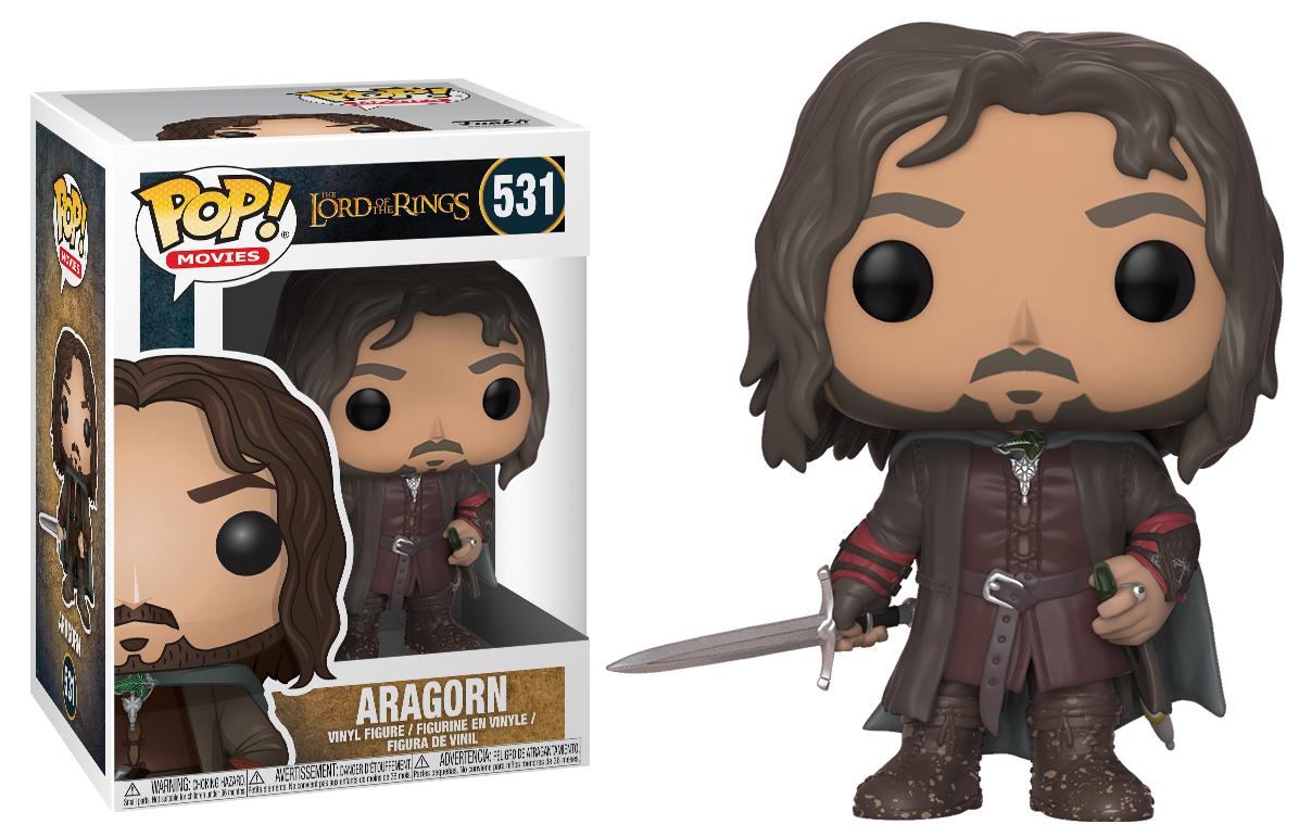 Lord Of The Rings Aragorn Vinyl Pop Figura 10 Cm Funko