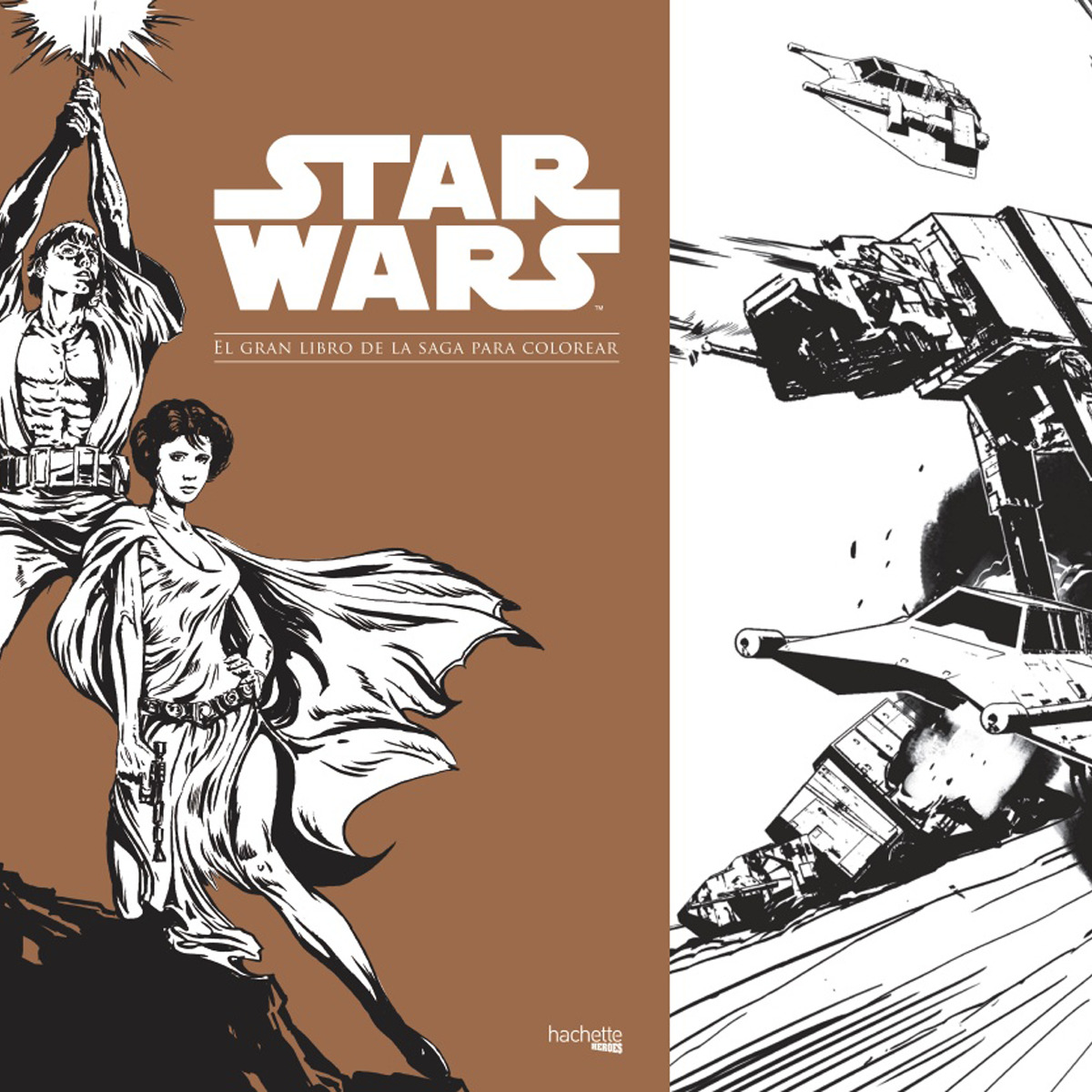 Star Wars: El Gran Libro De La Saga Para Colorear